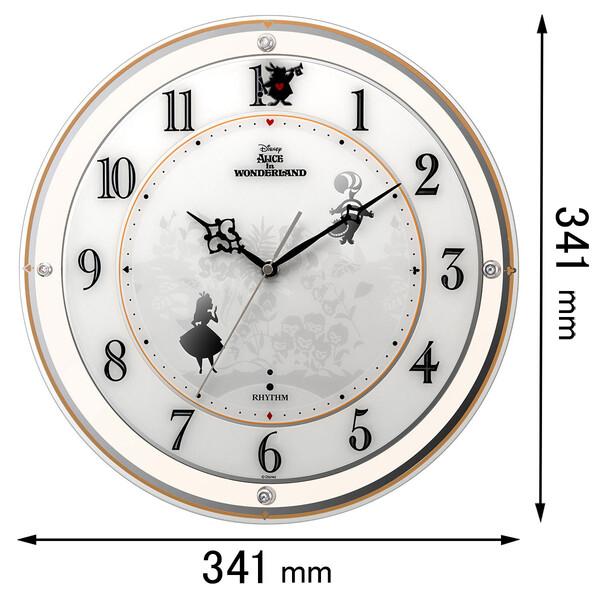 4MY854MC14 リズム時計 電波掛け時計 ディズニー アリス [4MY854MC14]【返品種別A】