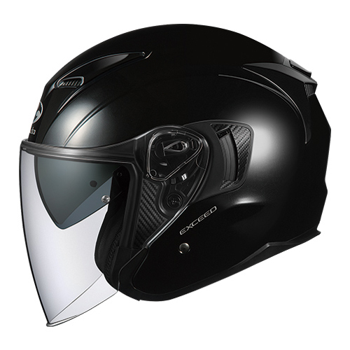 EXCEED BK XS OGKカブト オープンフェイスヘルメット(ブラックメタリック)[54~55cm] EXCEED(エクシード)