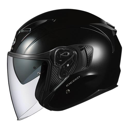 EXCEED BK L OGKカブト オープンフェイスヘルメット(ブラックメタリック)[59~60cm] EXCEED(エクシード)