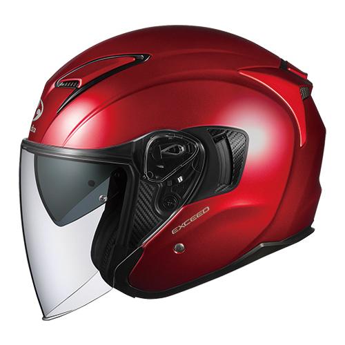 EXCEED SRD XL OGKカブト オープンフェイスヘルメット(シャイニーレッド)[61~62cm] EXCEED(エクシード)