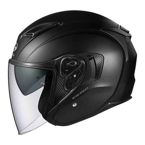 EXCEED FBK XL OGKカブト オープンフェイスヘルメット(フラットブラック)[61~62cm] EXCEED(エクシード)