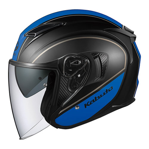 EXCEED DELIE BKBL M OGKカブト オープンフェイスヘルメット(フラットブラックブルー)[57~58cm] EXCEED DELIE(エクシード・デリエ)