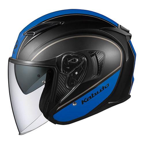 EXCEED DELIE BKBL L OGKカブト オープンフェイスヘルメット(フラットブラックブルー)[59~60cm] EXCEED DELIE(エクシード・デリエ)