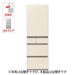 (標準設置料込)NR-E454PXL-N パナソニック 450L 5ドア冷蔵庫(シャンパンゴールド)【左開き】 Panasonic