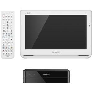 2T-C12AF-W シャープ 12V型ポータブル地上・BS・110度CSデジタルハイビジョン液晶テレビ(ホワイト) (別売USB HDD録画対応)AQUOSポータブル