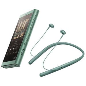 【500円クーポン10/11am1:59迄】NW-A55WI/G ソニー ウォークマン A50シリーズ 16GB + ワイヤレスヘッドホン「WI-H700」同梱モデル(ホライズングリーン) SONY Walkman