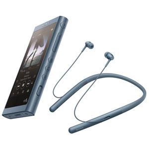 【500円クーポン10/11am1:59迄】NW-A55WI/L ソニー ウォークマン A50シリーズ 16GB + ワイヤレスヘッドホン「WI-H700」同梱モデル(ムーンリットブルー) SONY Walkman
