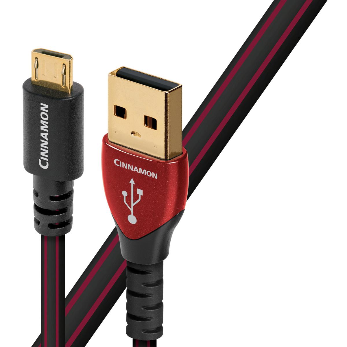 """USB2 Cinnamon 1.5M/A to micro B オーディオクエスト オーディオグレードUSBケーブル(1.5m・1本)【A】タイプ⇒【micro B】タイプ audio-quest""""シナモン"""""""