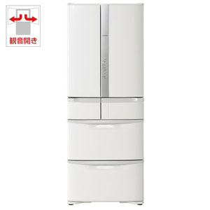 (標準設置料込)R-F48M3-W 日立 475L 6ドア冷蔵庫(パールホワイト) HITACHI