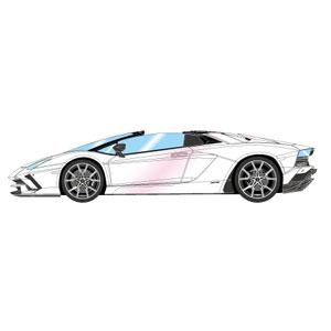 1/43 ランボルギーニ アヴェンタドール S ロードスター 2017 パールホワイト(ピンクパール)【EM402A】 メイクアップ