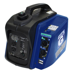 日本初の G-cubic(ジーキュービック) ニチネン KG-101 家電とPCの大型専門店 非常用発電機 2WAYカセットボンベも使える発電機:Joshin 携帯発電機 web-DIY・工具