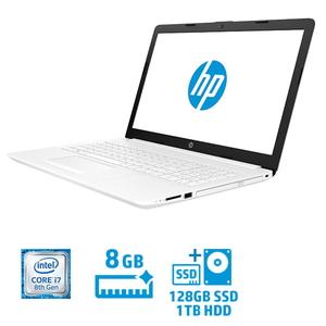 4QM64PA-AAAA ヒューレット・パッカード 15.6型 ノートパソコン HP Laptop 15-da0058TX ピュアホワイト [Core i7/メモリ 8GB/SSD 128GB+HDD 約 1TB]