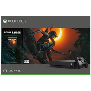 Xbox One X(シャドウオブトゥームレイダー 同梱版) マイクロソフト [CYV-00111 XboxOneX シャドウオブトゥームレイダー ドウコンバン]