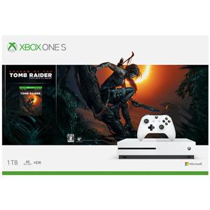 Xbox One S 1 TB (シャドウオブトゥームレイダー 同梱版) マイクロソフト [234-00789 XboxOneS シャドウオブトゥームレイダー ドウコンバン]