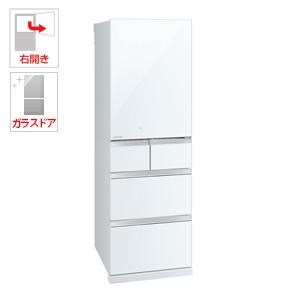 (標準設置料込)MR-B46D-W 三菱 455L 5ドア冷蔵庫(クリスタルピュアホワイト)【右開き】 MITSUBISHI 置けるスマート大容量シリーズ