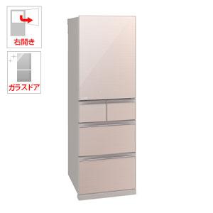 (標準設置料込)MR-B46D-F 三菱 455L 5ドア冷蔵庫(クリスタルフローラル)【右開き】 MITSUBISHI 置けるスマート大容量シリーズ
