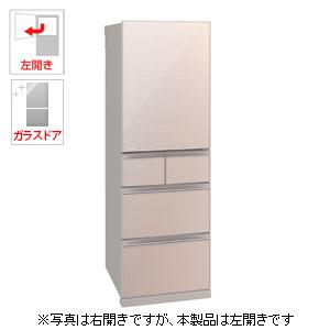 (標準設置料込)MR-B46DL-F 三菱 455L 5ドア冷蔵庫(クリスタルフローラル)【左開き】 MITSUBISHI 置けるスマート大容量シリーズ