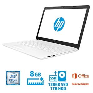 4QM64PA-AAAB ヒューレット・パッカード 15.6型 ノートパソコン HP Laptop 15-da0058TX ピュアホワイト [Core i7/メモリ 8GB/SSD 128GB+HDD 約 1TB/Office H&B 2016]