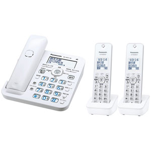 VE-GZ51DW-W パナソニック デジタルコードレス電話機(子機2台付き) ホワイト Panasonic ル・ル・ル(RU・RU・RU)