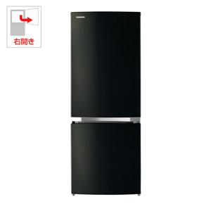 (標準設置料込)GR-P15BS-K 東芝 153L 2ドア冷蔵庫(メタリックブラック)【右開き】 TOSHIBA