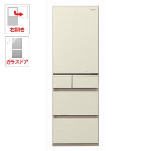 (標準設置料込)NR-E414GV-N パナソニック 406L 5ドア冷蔵庫(シャンパンゴールド)【右開き】 Panasonic エコナビ