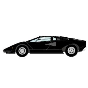 1/43 Lamborghini Countach LP400 1974 ブラック【EM387G】 メイクアップ