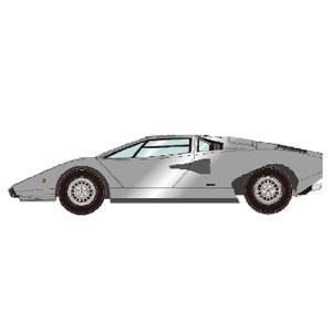 1/43 Lamborghini Countach LP400 1974 シルバー【EM387I】 メイクアップ