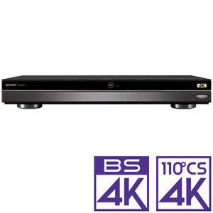 4B-C40AT3 シャープ 4TB HDD/3チューナー搭載 ブルーレイレコーダー4Kチューナー内蔵4K Ultra HDブルーレイ再生対応 SHARP AQUOS アクオス