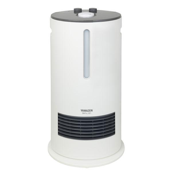 DKF-L121-W 山善 加湿機能付きセラミックファンヒーター(ホワイト) 【暖房器具】YAMAZEN