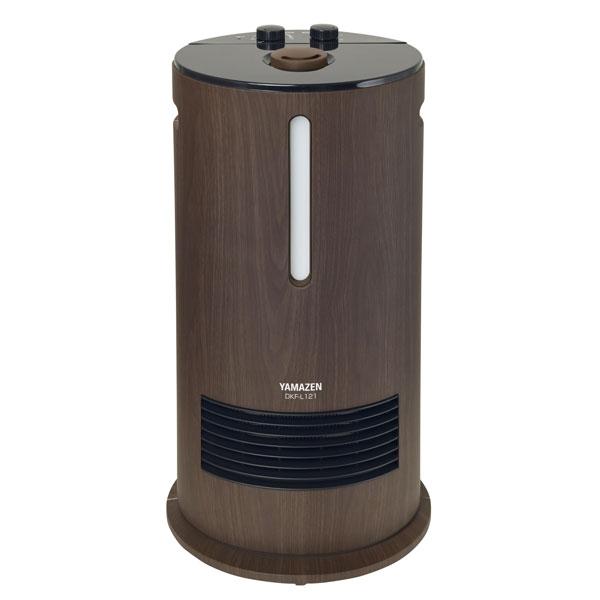 DKF-L121-BM 山善 加湿機能付きセラミックファンヒーター(木目ブラック) 【暖房器具】YAMAZEN