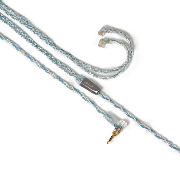 LNA-BOB-UQ2P-25L Luminox Audio イヤホン用リケーブル(1.2m)【qdc⇔2.5mm4極L字プラグ】《Booster Blue》 Luminox Audio