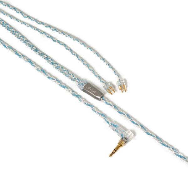 LNA-BOB-FE-35L ルミノクスオーディオ イヤホン用リケーブル(1.2m)【FitEar⇔3.5mm3極L字プラグ】《Booster Blue》 Luminox Audio