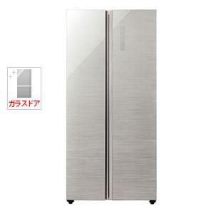 AQR-SBS45H-S アクア 449L 2ドア冷蔵庫(ヘアラインシルバー) AQUA