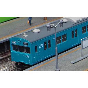 [鉄道模型]グリーンマックス (Nゲージ) 1237T JR103系初期車 関西形B スカイブルー 4両編成動力付きトータルセット(塗装済みキット)