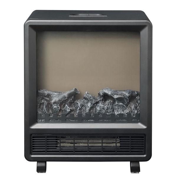 YDH-J10-B 山善 暖炉型ヒーター(ブラック) 【暖房器具】YAMAZEN