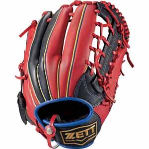 Z-BSGB52830-1964-LH ゼット ソフトボール用グラブ(サイズ6・右投用・ブラック×レッド) ZETT リアライズ オールラウンド