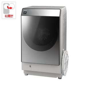 (標準設置料込)ES-W111-SR シャープ 11.0kg ドラム式洗濯乾燥機【右開き】シルバー系 SHARP
