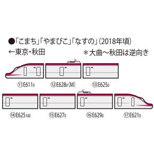 [鉄道模型]トミックス (Nゲージ) 98663 JR E6系 秋田新幹線(こまち・後期型)セット (7両)