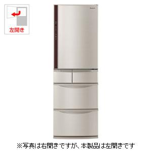 (標準設置料込)NR-E414VL-N パナソニック 406L 5ドア冷蔵庫(シャンパン)【左開き】 Panasonic エコナビ