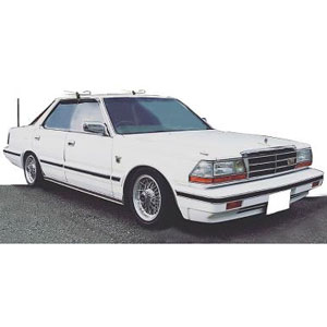1/43 Nissan Gloria (Y30) 4Door Hardtop Brougham VIP White【IG1308】 ignitionモデル