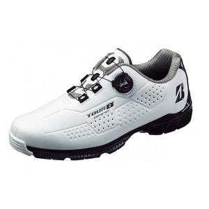 SHG900 WK 255 ブリヂストンゴルフ メンズ・スパイクレス・ゴルフシューズ(白/黒・25.5cm) TOUR B ゼロ・スパイク バイター
