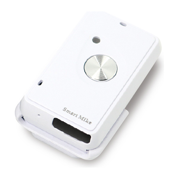 X-SM01-WH アピロス iPhone用 ワイヤレスマイク Smart Mike(ホワイト)