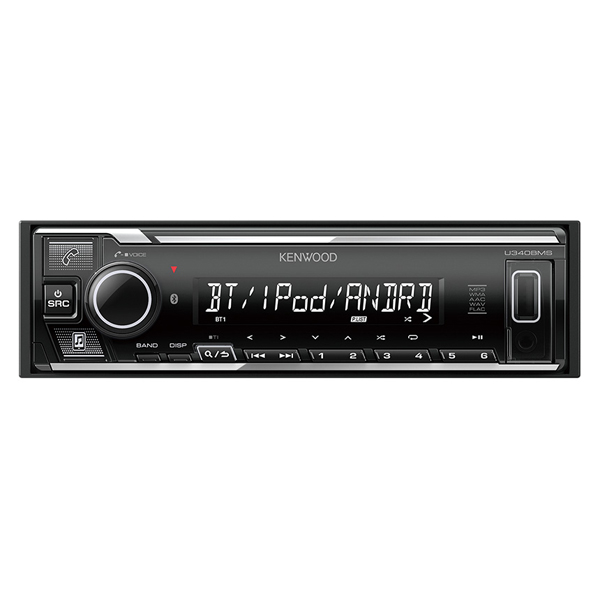 【最大1000円OFF■当店限定クーポン 11/20迄】U340BMS ケンウッド USB/iPod/Bluetoothレシーバー1DIN KENWOOD