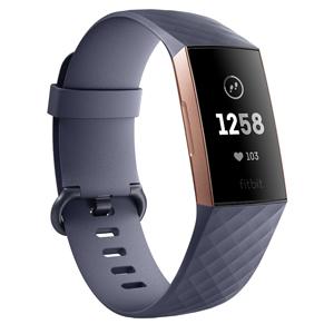 FB410RGGY-CJK フィットビット ウェアラブル活動量計(Rose Gold/Blue Gray Aluminium) L/Sサイズ Fitbit Charge3 [FB410RGGYCJK]【返品種別A】