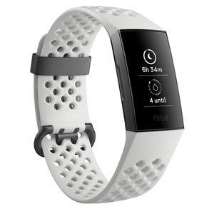 FB410GMWT-CJK フィットビット ウェアラブル活動量計(Graphite/White Silicone) L/Sサイズ Fitbit Charge3 Special Edition [FB410GMWTCJK]【返品種別A】