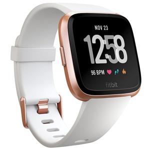 FB505RGWT-EU フィットビット スマートウォッチ(White Band/Rose Gold Alumium) L/Sサイズ Fitbit Versa [FB505RGWTEU]【返品種別A】