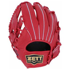 Z-BRGB34820-6400-RH ゼット 軟式野球用グラブ(サイズ4・左投用・レッド) ZETT デュアルキャッチ オールラウンド