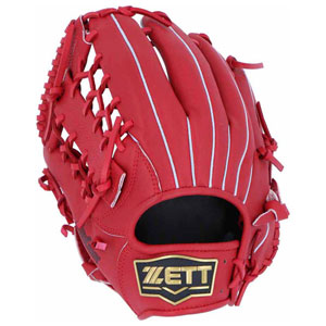 Z-BRGB34840-6400-RH ゼット 軟式野球用グラブ(サイズ6・左投用・レッド) ZETT デュアルキャッチ オールラウンド