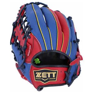 Z-BSGB52830-6423-RH ゼット ソフトボール用グラブ(サイズ6・左投用・レッド×ブルー) ZETT リアライズ オールラウンド