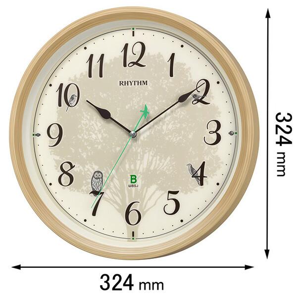 8MN409SR06 リズム時計 電波掛け時計 日本野鳥の会 四季の野鳥 [8MN409SR06]【返品種別A】